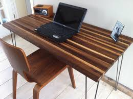 Walnut Computer Desks Mid Century Modern Computer Desk Featuring Black Walnut Top And