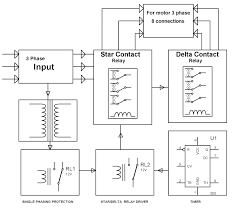 engineering projects automatic star delta starter using relays