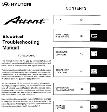 2004 hyundai accent manual 2004 hyundai accent electrical troubleshooting manual original
