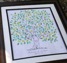 Wedding Tree Fingerprint Wedding Tree Thumbprint Wedding Guest Book Tree