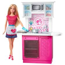 barbie doll and kitchen furniture set toys read product description