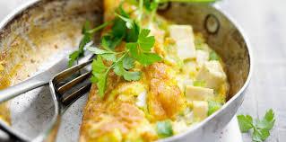 cuisiner le tofu ferme omelette au tofu facile et pas cher recette sur cuisine actuelle