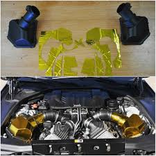 gold foil wrap bimmerboost is combatting engine heat with gold foil wrap a