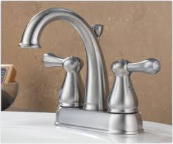 bathtub faucet set delta 2575lf ss leland two handle centerset bathroom faucet