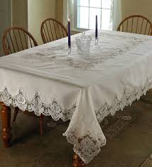 Dining Room Tablecloths by Amazon Com Violet Linen Imperial Embroidered Vintage Lace Design