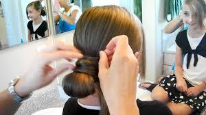 hair crossed bun updos cute girls hairstyles youtube