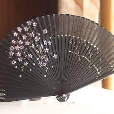 japanese folding fan aliexpress buy silk hollow rib fan japanese folding fan