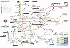 Madrid Subway Map by Map Madrid Metro Map
