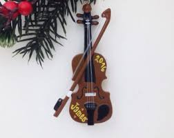 violin ornament etsy
