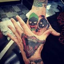 joker tattoo video i love my suicide squad hand tattoos puddin and i can take from