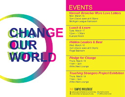 change our world campus involvement