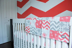 Navy Coral And White Bedroom Bedroom Coral And Navy Chevron Bedding Medium Porcelain Tile