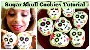 Sugar Skulls For Sale Sugar Skull Cookies Tutorial Youtube