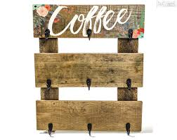 coffee cup hanger pretty in polka dots floral mug rack pallet