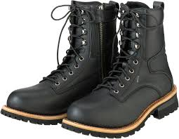 mens z1r black leather m4 motorcycle riding street racing boots