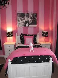 bedroom girls bedroom interior decoration casual pink stripes