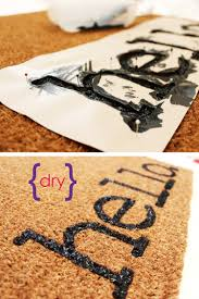 easy project for summer diy personalized door mats make your own