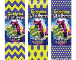 printable goosebumps bookmarks goosebumps banner etsy
