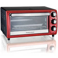 Hamilton Beach 6 Slice Toaster Oven Review Hamilton Beach 4 Slice Toaster Oven 5 Functions Red 2 Rack