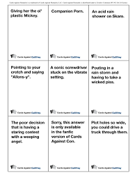 cards against humanity expansion print out the doctor who version of cards against humanity right