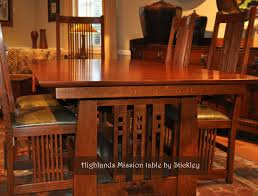 mission dining room table mission style dining room table stickley mission craftsman dining