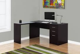corner desk with drawers monarch specialties inc l shape corner desk u0026 reviews wayfair