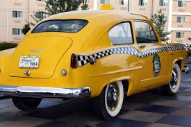 vintage yellow color taxi i like to pay homage to the yellow taxis of the world https