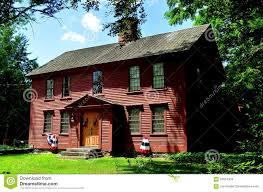 canterbury ct 18th century colonial wooden home editorial stock