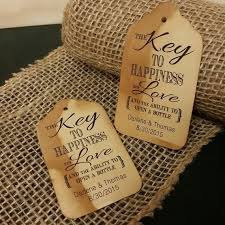wedding quotes key key to happiness is bottle opener favor tag medium tags