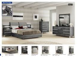 Elite Modern Furniture by Elite Modern Italian Gray Birch Lacquer Finish Bedroom Esf