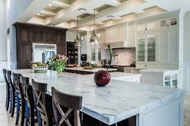 classic kitchen design with white carrara marble kitchen