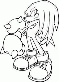 sonic coloring pages knuckles coloring