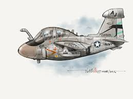 usn ea 6b prowler cartoon done in paper 53 vnaf u0026 allies