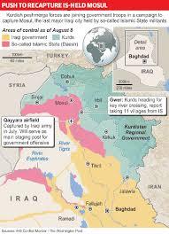 Map Iraq Mosul Fight Redrawing Map Of Iraq