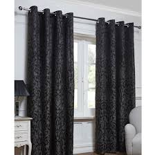 Black Eyelet Curtains 66 X 90 Georgia Textured Leaf Fully Lined Eyelet Curtain 66 X 72