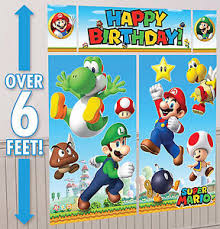 mario party supplies mario brothers setter happy birthday banner party