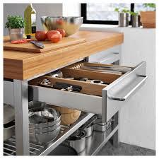 etabli cuisine rimforsa rangement av étag armoire établi acier inoxydable bambou