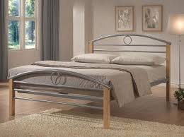 Beech Bed Frames Seconique 4ft Small Silver Metal Bed Frame Small