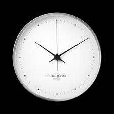 koppel 30 cm wall clock stainless steel with white dial