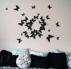 bedroom wall art butterfly hot three dimensional bedroom wall art butterfly images about pinterest paper butterflies