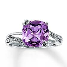 rings with amethyst images Jared pink amethyst ring 1 15 ct tw diamonds 14k white gold jpg