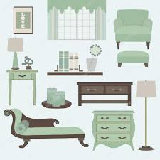 Light Living Room Furniture Living Room Furniture And Accessories In Light Teal U2014 Stock Vector