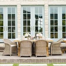 outdoor wicker dining table trestle patio dining tables design ideas