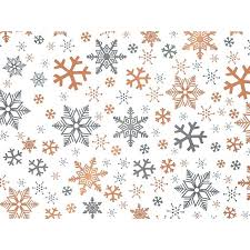 christmas gift wrap metallic gift wrap counter roll snowflakes