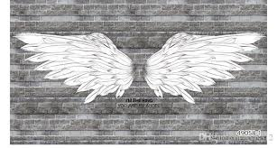 3d bars wallpapers black and white angel wings brick background wallpaper 3d bar