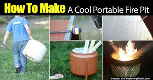 Cool Firepit How To Make A Cool Portable Pit On The Cheap Diy Tutorial