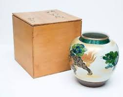 kutani shishi beautiful japanese japan kutani shishi foo lion ikebana flower