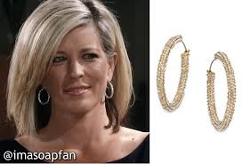 carly gh haircut carly corinthos s pave hoop earrings general hospital laura