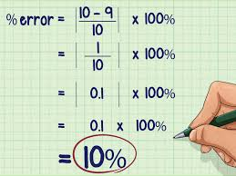 how to calculate percentage error 5 steps with pictures