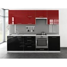 cuisine bi couleur meublesline cuisine complète toro 2m60 bi color design noir et